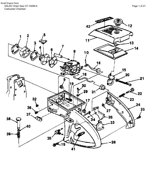 ILLUSTRATED PARTS MANUAL HOMELITE XL12 SUPER XL AUTOMATIC SXLAO CHAINSAW