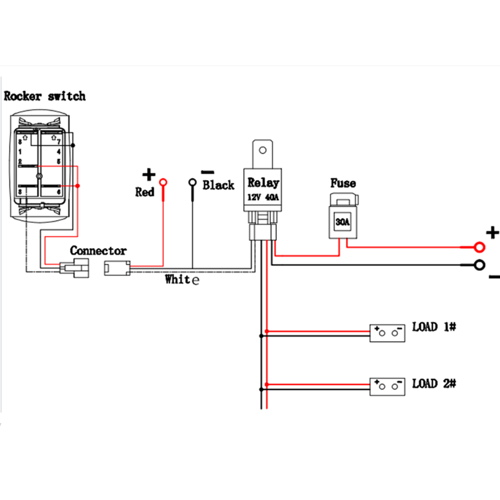 rigid lights wiring diagram aw 5495  light relay wiring diagram further led light bar relay  relay wiring diagram further led light