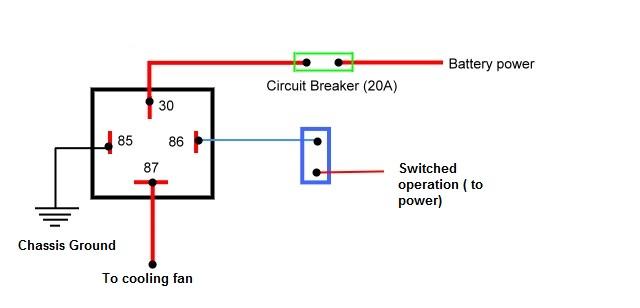 radiator cooling fan relay wiring diagram db 6902  cooling fan relay diagram  db 6902  cooling fan relay diagram