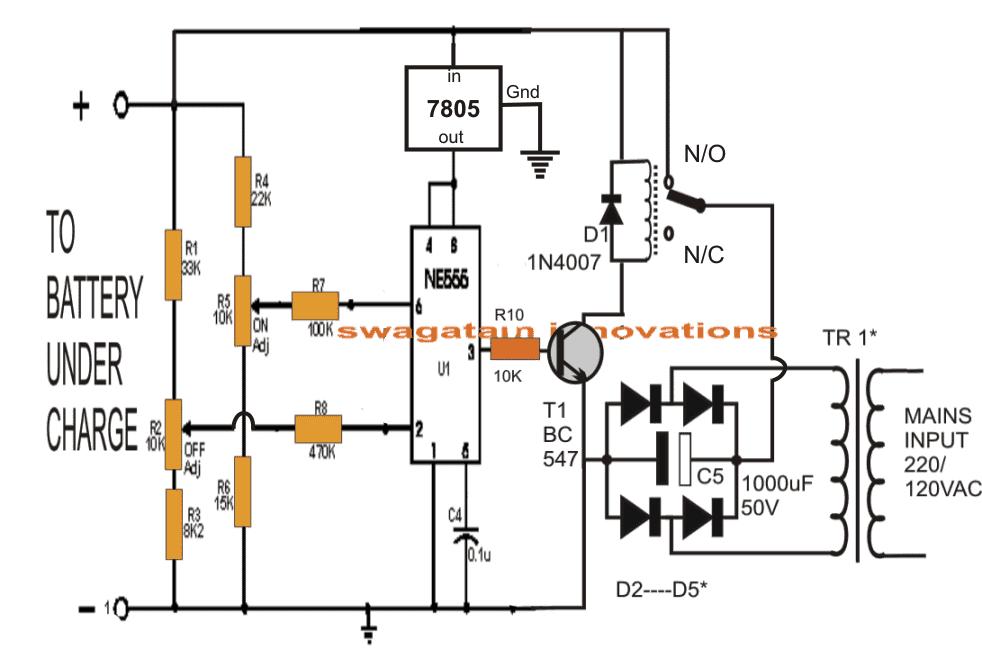 Brilliant 5 Automatic Lead Acid Battery Charger Circuits Explained Homemade Wiring Cloud Icalpermsplehendilmohammedshrineorg