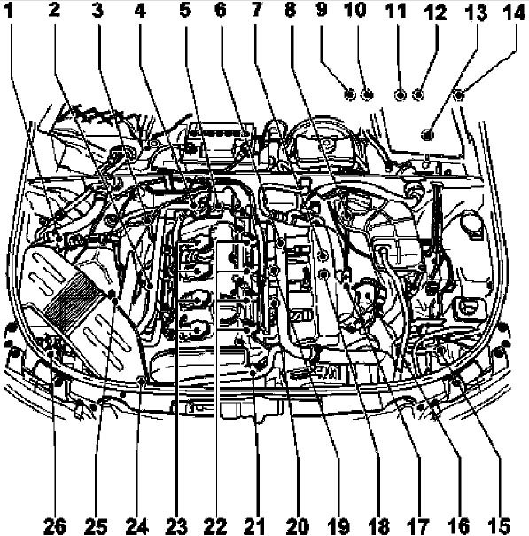 Audi Engine Schematics Wiring Diagram Frankmotors Es