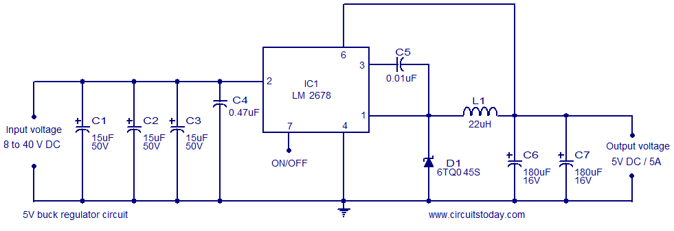 Remarkable 5V Buck Regulator Using Lm2678 Electronic Circuits And Diagrams Wiring Cloud Itislusmarecoveryedborg