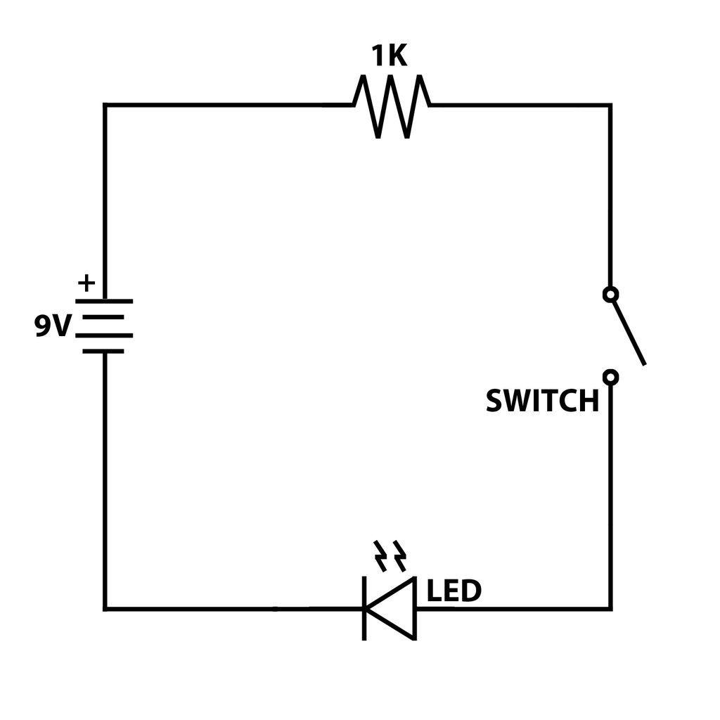 Phenomenal Led Circuit With Switch Basic Electronics Wiring Diagram Wiring Cloud Waroletkolfr09Org