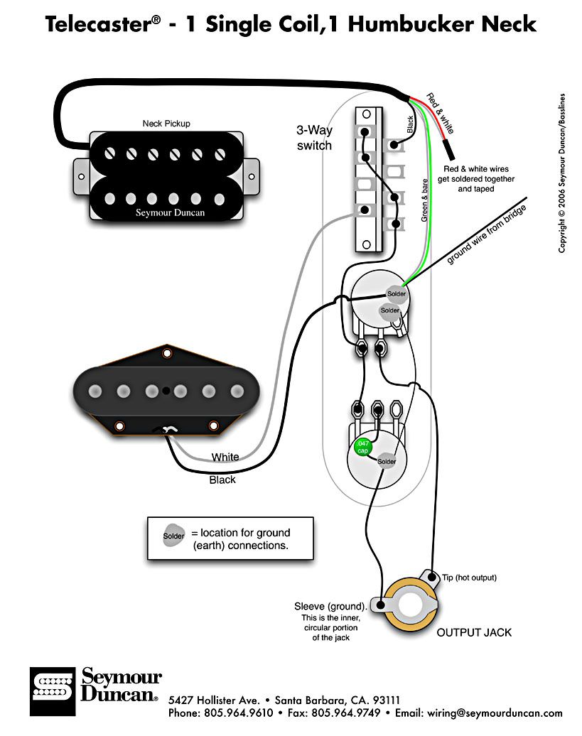 Outstanding Tele Wiring Diagram 1 Single Coil 1 Neck Humbucker My Other Wiring Cloud Intelaidewilluminateatxorg