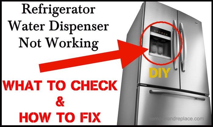 Excellent Refrigerator Water Dispenser Not Working How To Fix Wiring Cloud Intelaidewilluminateatxorg