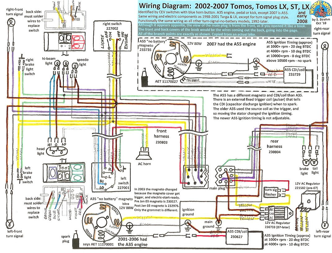 Tomos A35 Wiring Diagram - Fisher Plow Wire Harness 6591 | Bege Wiring  Diagram | Without Turn Signals Wiring Diagram For Tomos A3 |  | Bege Wiring Diagram