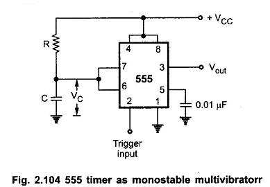 Prime Monostable Multivibrator Using Ic 555 I Operation I Application Wiring Cloud Ymoonsalvmohammedshrineorg