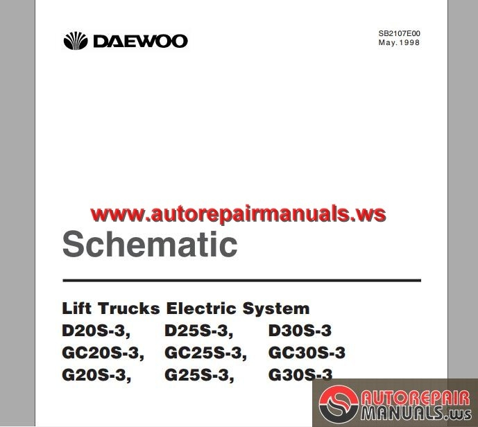 Dd 6601  Daewoo G25s Manual Schematic Wiring