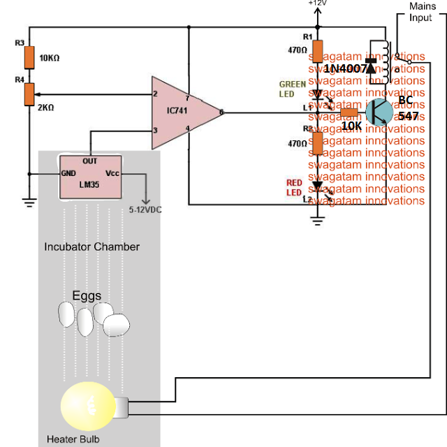 Remarkable Incubator Temperature Controller Circuit Using Lm35 Ic Electronic Wiring Cloud Staixaidewilluminateatxorg