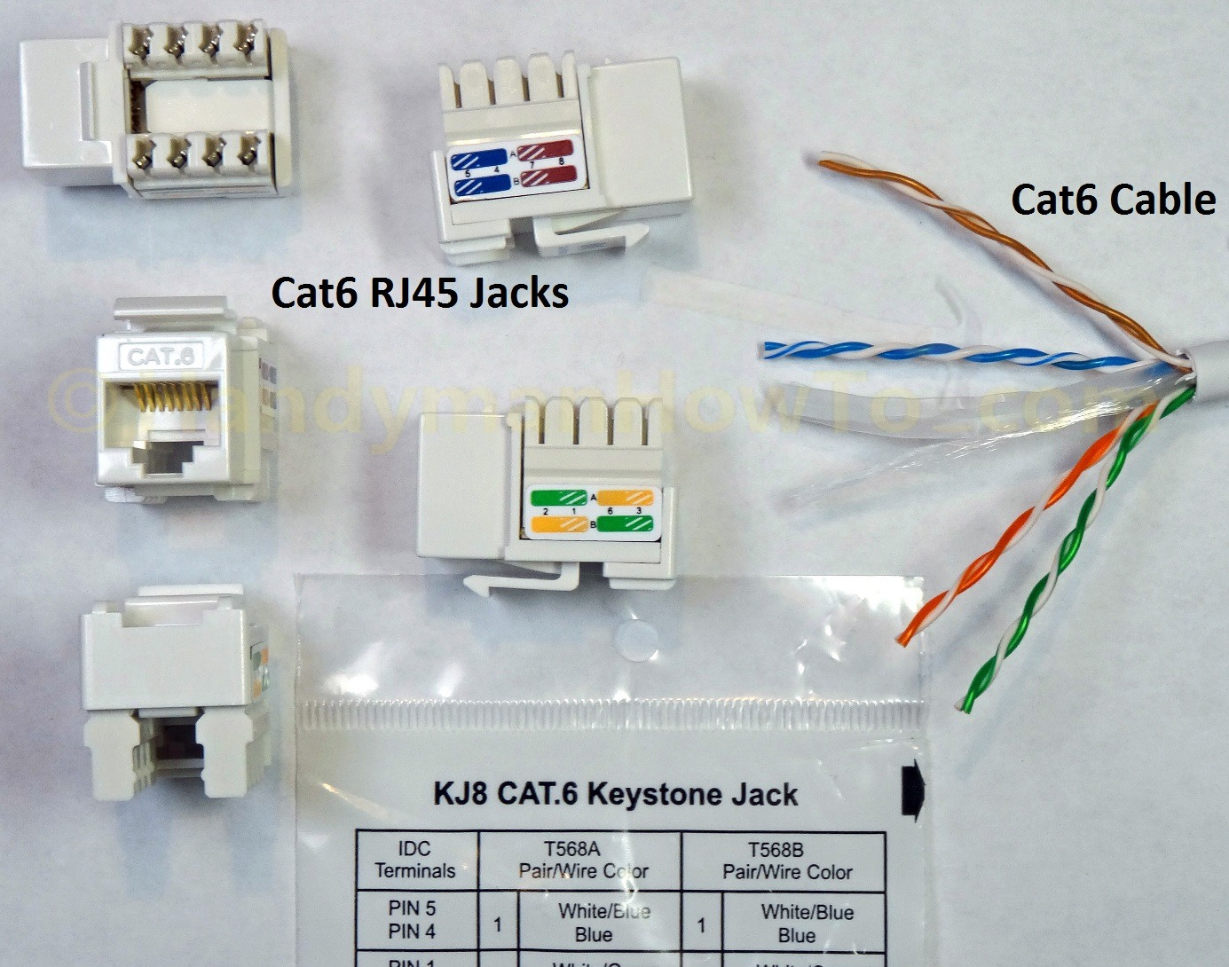 Rj45 Wiring Cat 6 Cable Diagram