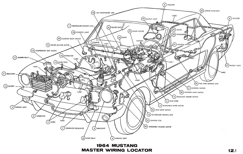 Strange 1964 Mustang Wiring Diagrams Average Joe Restoration Wiring Cloud Hemtshollocom