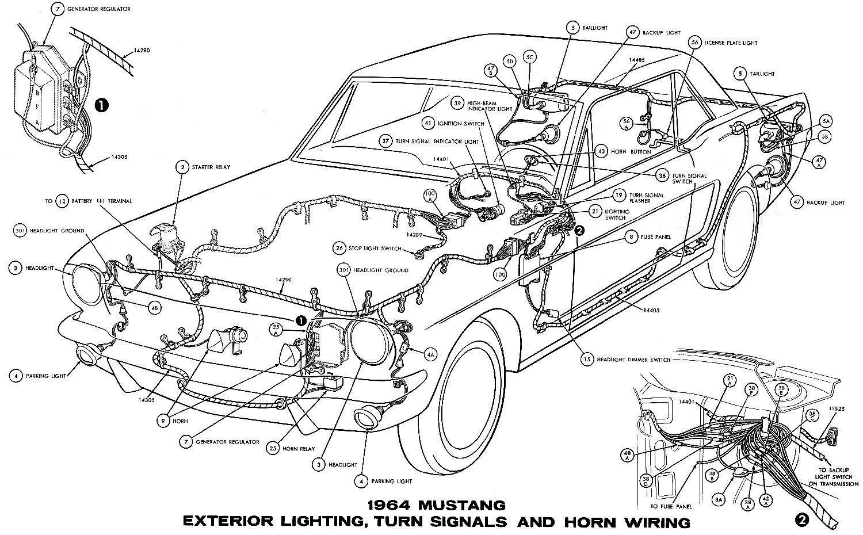 Miraculous 1964 Mustang Wiring Diagrams Average Joe Restoration Wiring Cloud Hemtshollocom