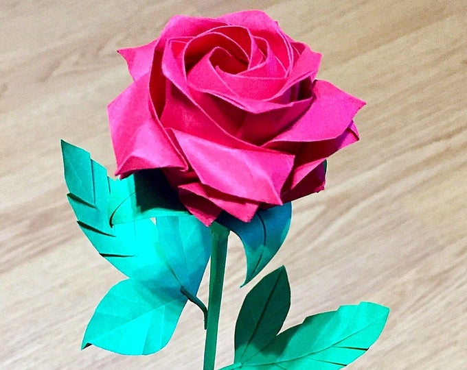 Make an Easy Origami Rose | 540x680