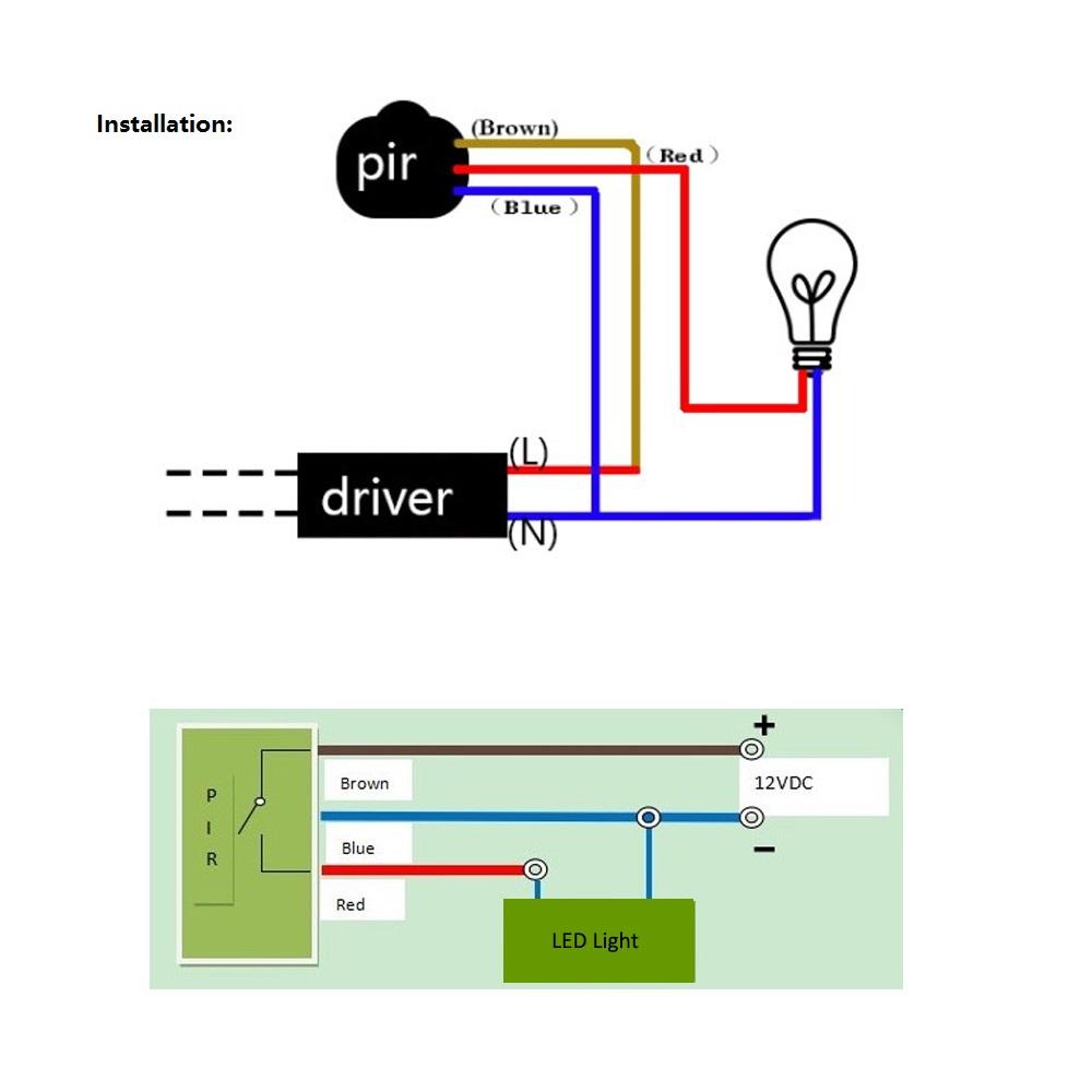 Enjoyable Led Motion Sensor 12V 220V Automatic Infrared Pir Infrared Detector Wiring Cloud Orsalboapumohammedshrineorg