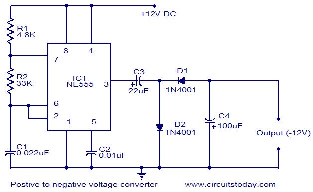 Terrific Positive Voltage To Negative Voltage Converter Electronic Circuits Wiring Cloud Hemtshollocom