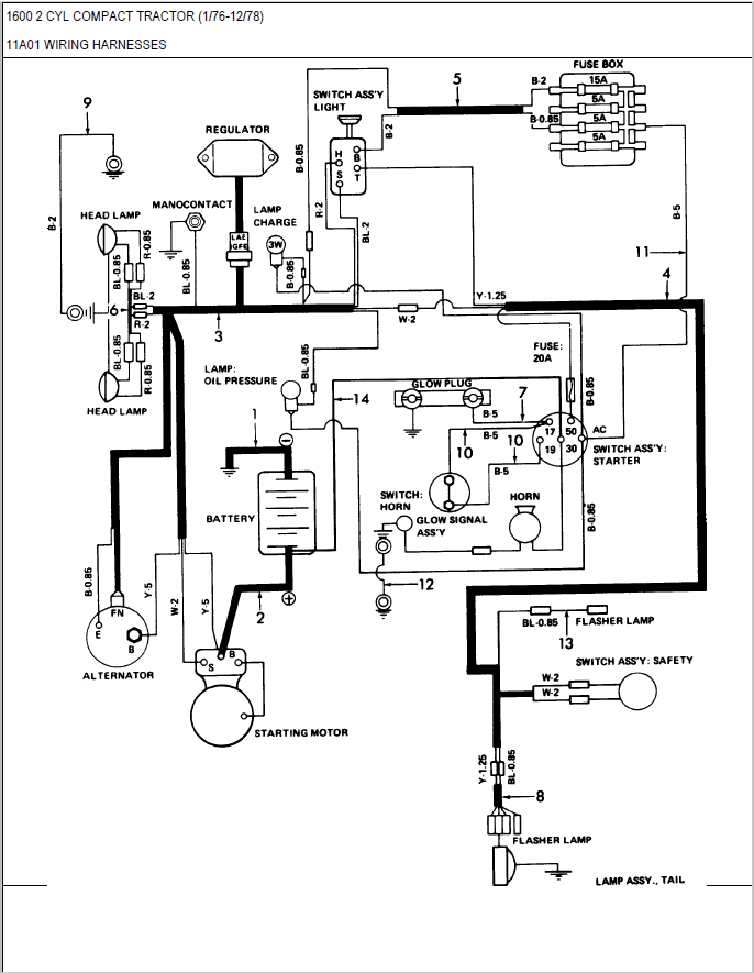 Wiring Diagram Ford 6610 Tractor