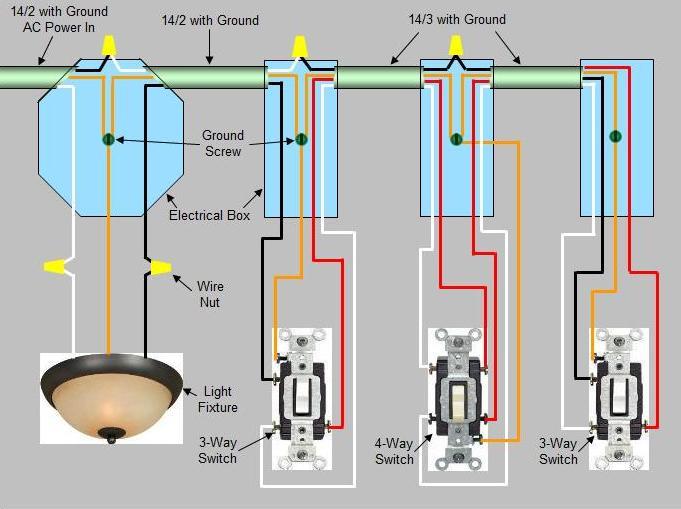 Astonishing Installing A 4 Way Switch Wiring Diagram Basic Electronics Wiring Wiring Cloud Onicaxeromohammedshrineorg