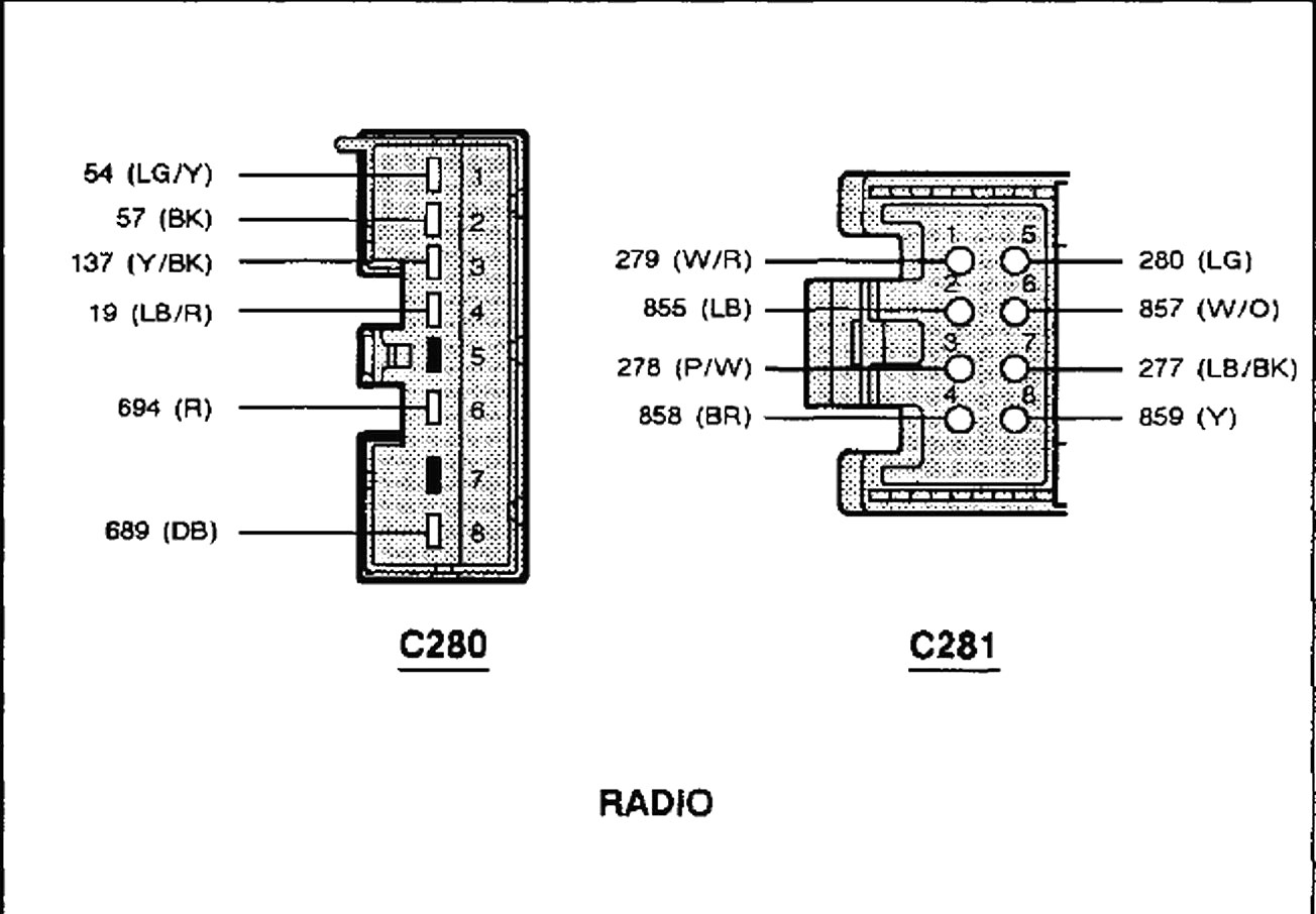 1998 Ford F150 Stereo Wiring Diagram - Wiring Diagram