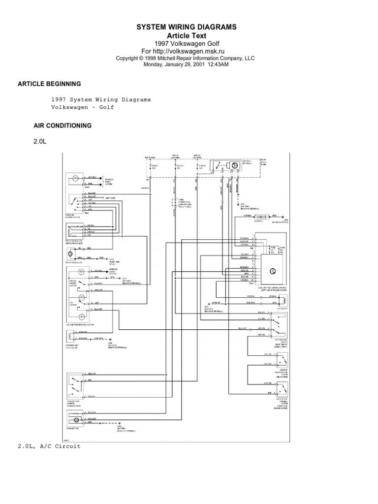 Fl 4490  Mk3 Golf Dash Light Wiring Diagram 95
