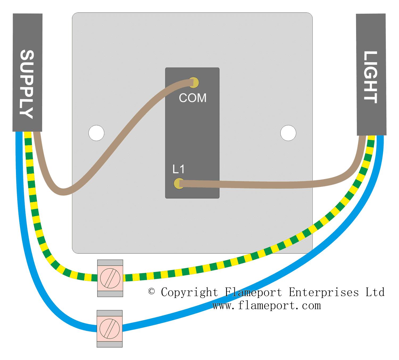 Wondrous Wiring A Single Switch Basic Electronics Wiring Diagram Wiring Cloud Gufailluminateatxorg