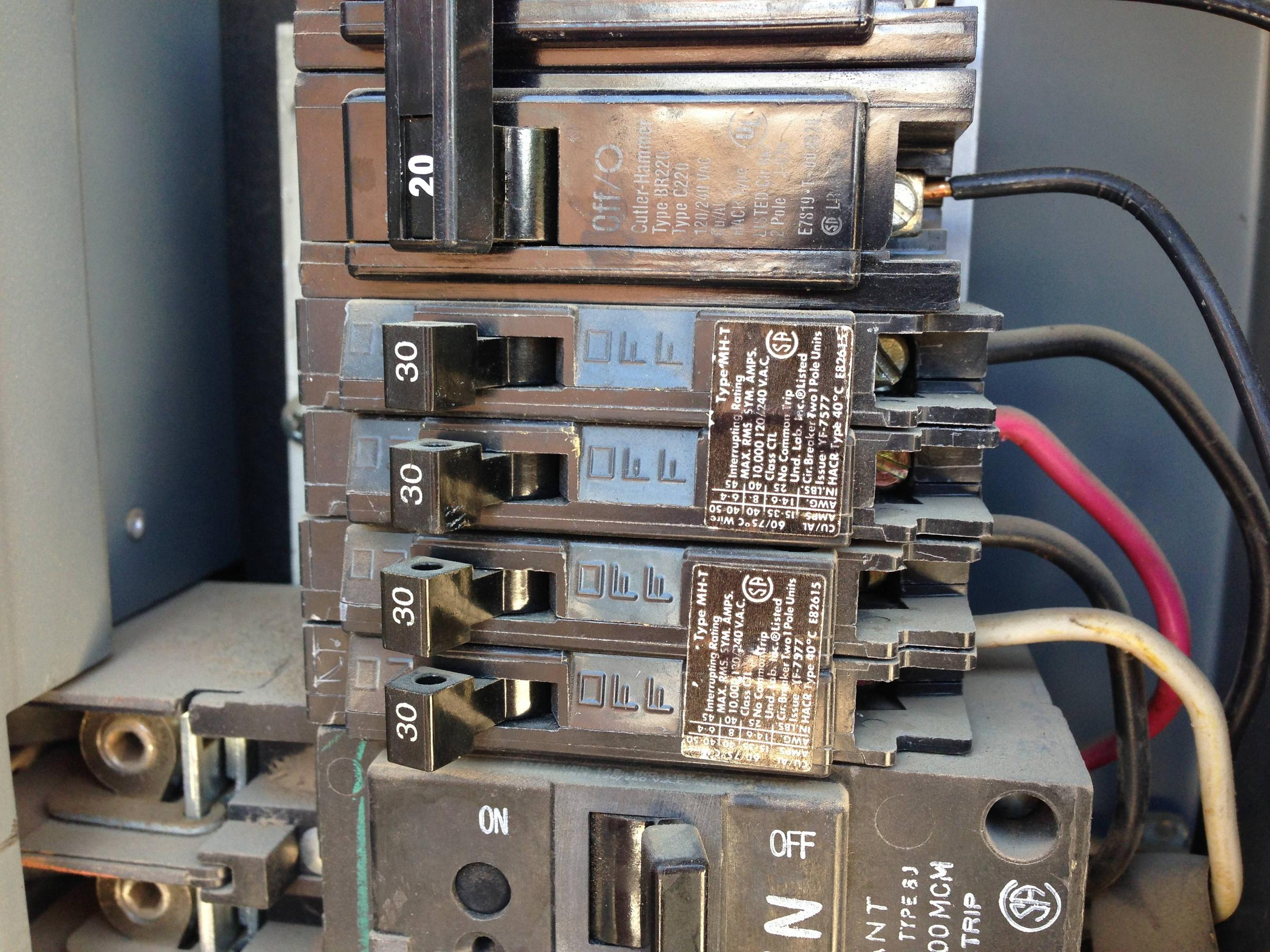 Admirable Electrical Using A 30 Amp Tandem Circuit Breaker For A 120 240V Wiring Cloud Intelaidewilluminateatxorg