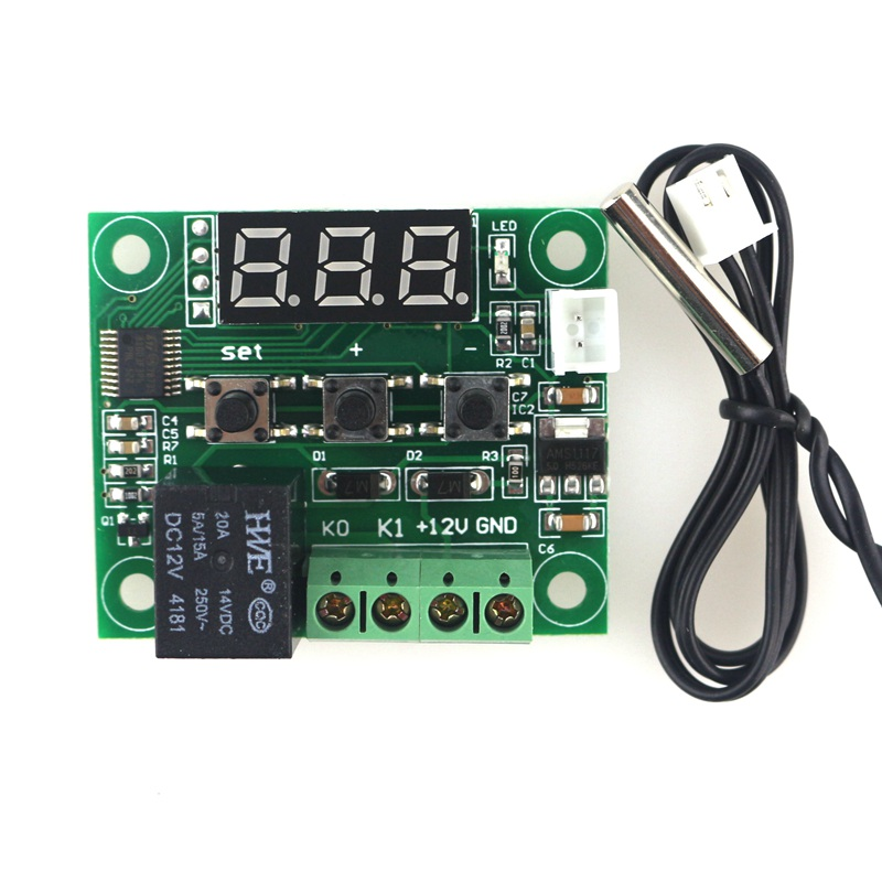 Awe Inspiring W1209 Thermostat Incubator Temperature Controller 12V Wiring Cloud Hemtshollocom