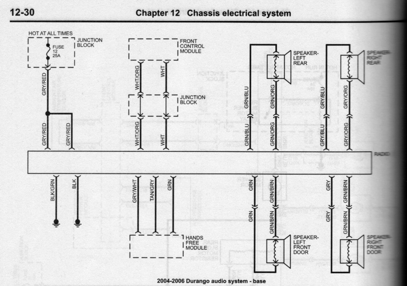 2007 Dodge Charger Stereo Wiring Diagram