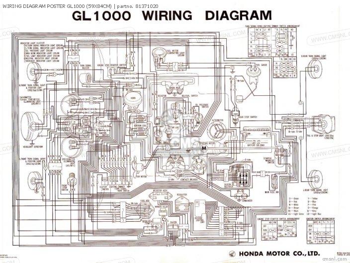 Honda Goldwing 1000 Wiring Diagram