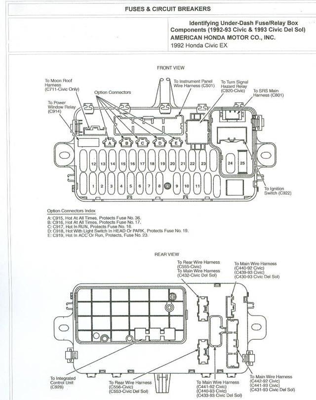 94 honda civic fuse panel diagram oe 7529  acura integra suspension diagram free diagram  acura integra suspension diagram free