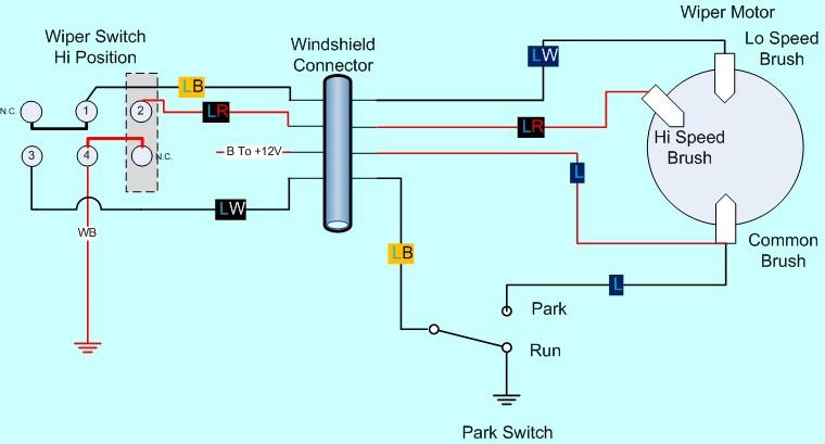 12 Volt Windshield Wiper Motor Wiring Diagram Wiring Diagram Data