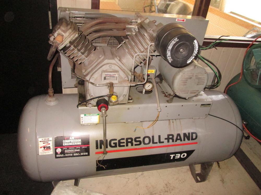 Amazing Ingersoll Rand T30 Air Compressor Model 2545E10 120 Gallon 10Hp Wiring Cloud Rometaidewilluminateatxorg