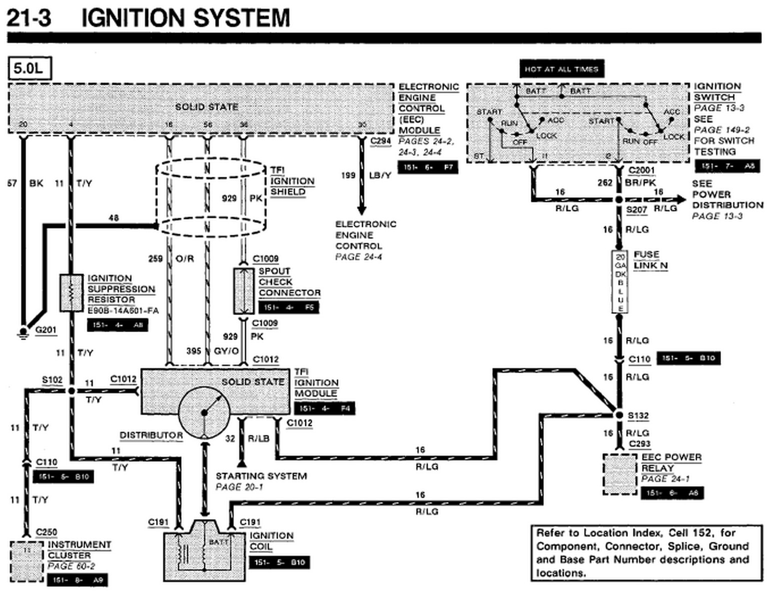 91 mustang dash wiring schematic diagram lr 7715  wiring diagram moreover ford tfi module on wiring diagram  wiring diagram moreover ford tfi module