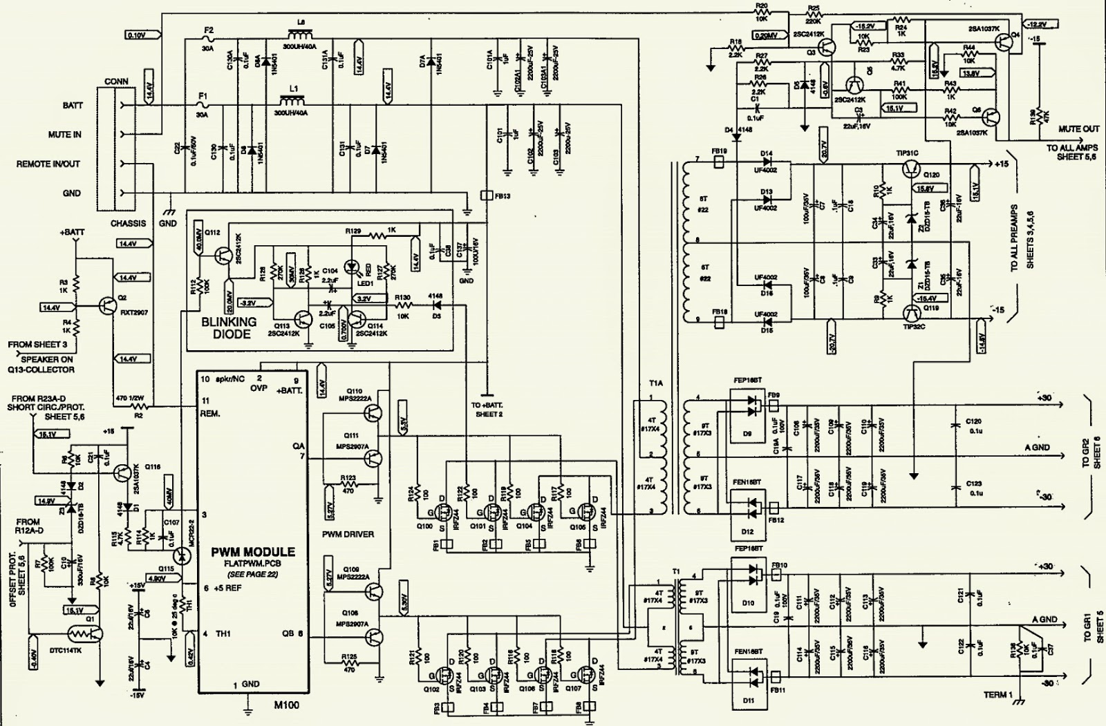 Super Simple 300W Subwoofer Power Amplifier Wiring Circuit Diagram Super Wiring Cloud Rometaidewilluminateatxorg