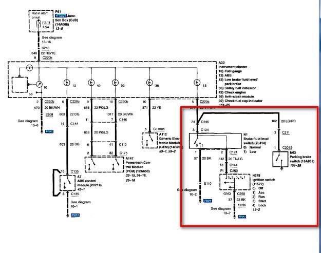 2002 ford explorer brake light wiring diagram  3 phase