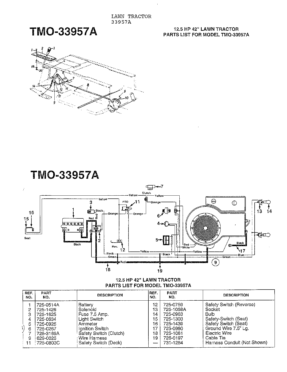 Astounding Mtd Model 33944A Lawn Tractor Genuine Parts Wiring Cloud Uslyletkolfr09Org