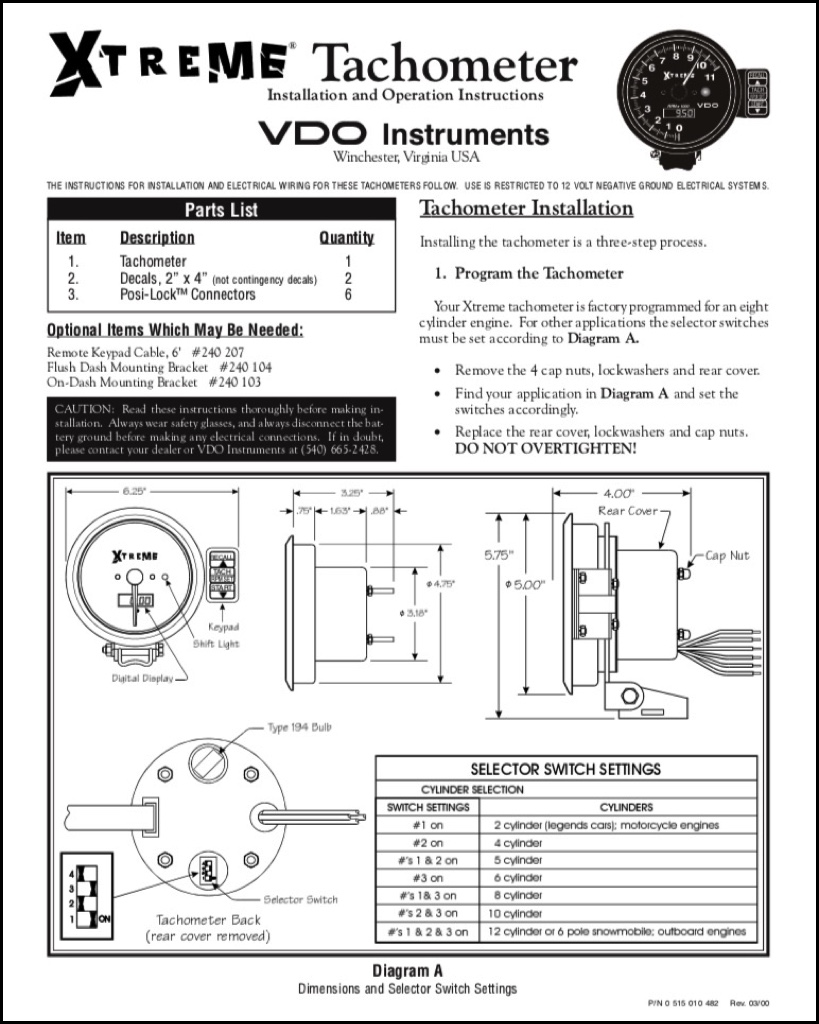 Vdo Tachometer Wiring Bathroom Fan Motor Wiring Diagram Keys Can Acces Yenpancane Jeanjaures37 Fr