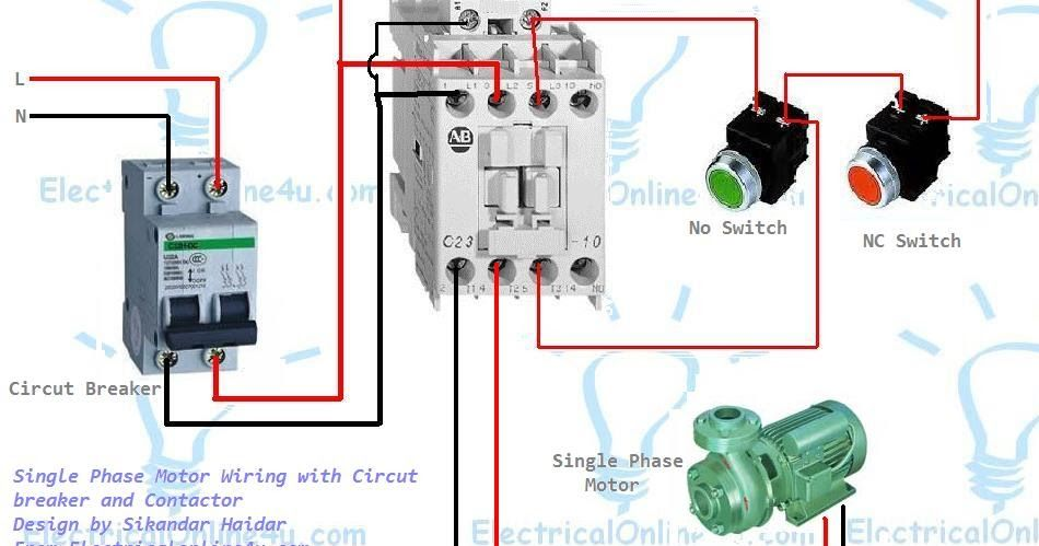 Wondrous Single Phase Motor Wiring With Contactor Diagram Woodworking In Wiring Cloud Mousmenurrecoveryedborg