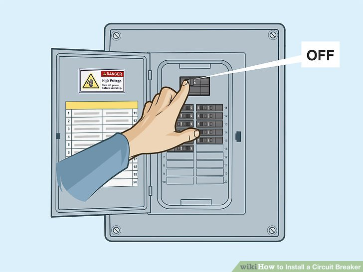 Admirable How To Install A Circuit Breaker 14 Steps With Pictures Wiring Cloud Cranvenetmohammedshrineorg