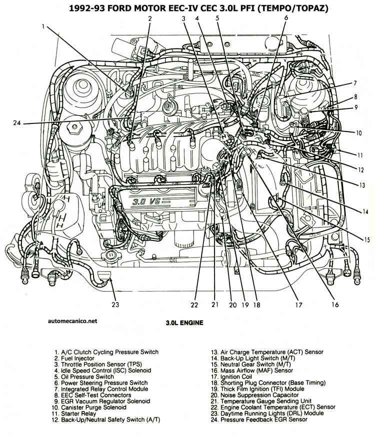 RB_3896] 1992 Ford Tempo And Mercury Topaz Wiring Diagram Original Free  Diagram | Ford Tempo Radio Wiring Diagram |  | Obenz Inama Mohammedshrine Librar Wiring 101