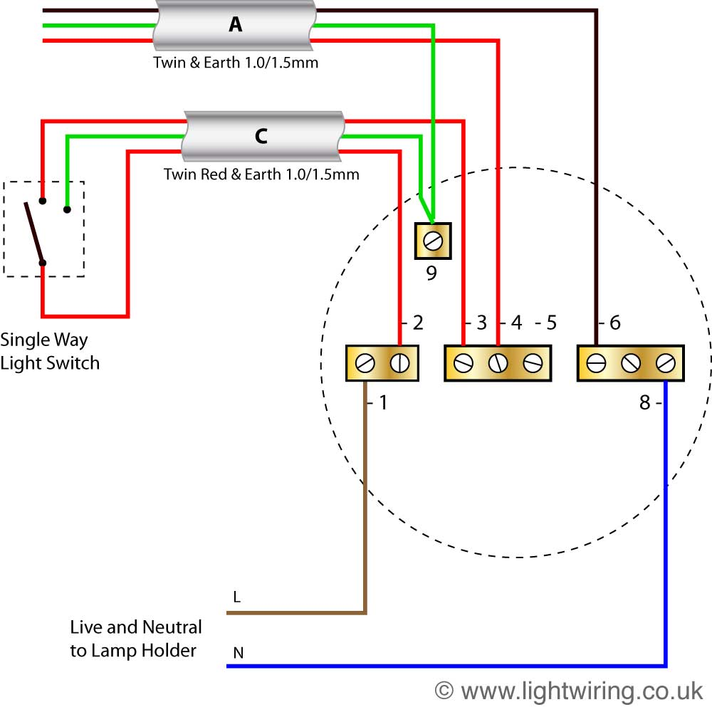 Admirable How To Wire A Ceiling Light Ceiling Rose Wiring Diagrams Diagram Wiring Cloud Rdonaheevemohammedshrineorg