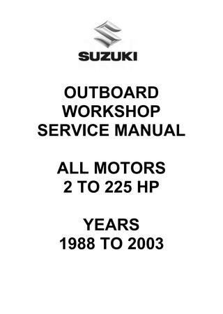 Strange Suzuki Outboard Workshop Service Manual All Motors By Glsense Issuu Wiring Cloud Histehirlexornumapkesianilluminateatxorg