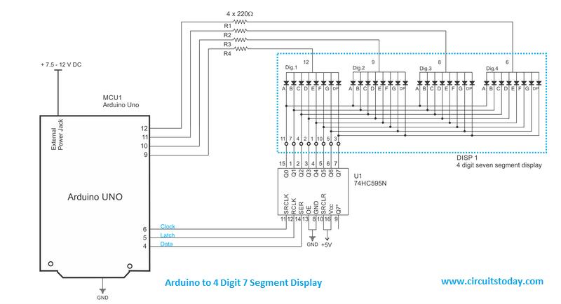 Prime Arduino And Seven Segment Display Interfacing Wiring Cloud Timewinrebemohammedshrineorg