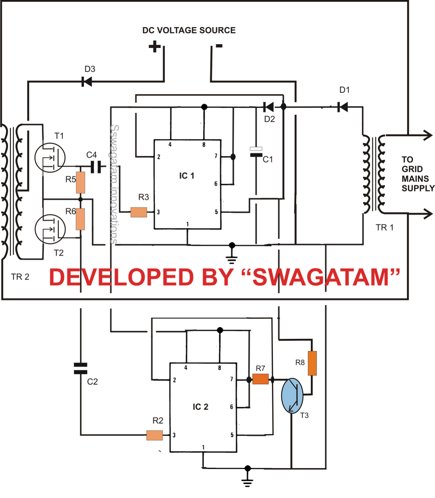 Enjoyable Solar Inverter Free Solar Inverter Circuit Diagram Wiring Cloud Timewinrebemohammedshrineorg