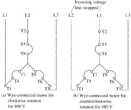 Enjoyable Three Phase Motor Connection Diagram Wiring Diagram Wiring Cloud Hemtegremohammedshrineorg