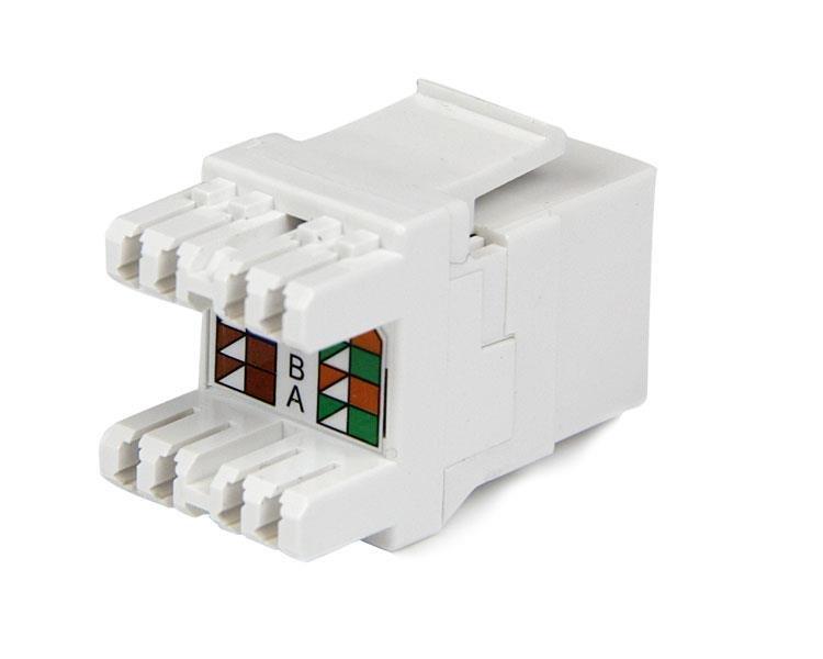 Amazing Cat6 Keystone Rj45 Ethernet 180 Degree 110 Type Startech Com Wiring Cloud Dulfrecoveryedborg
