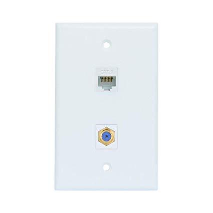 Sensational Amazon Com Esylink Al304 Ethernet Coax Wall Plate Cat6 Coax Wall Wiring Cloud Dulfrecoveryedborg