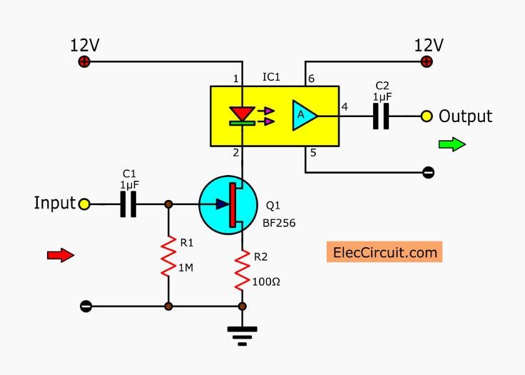 Amazing Linear Opto Isolator Circuits Electronic Projects Circuits Wiring Cloud Cranvenetmohammedshrineorg