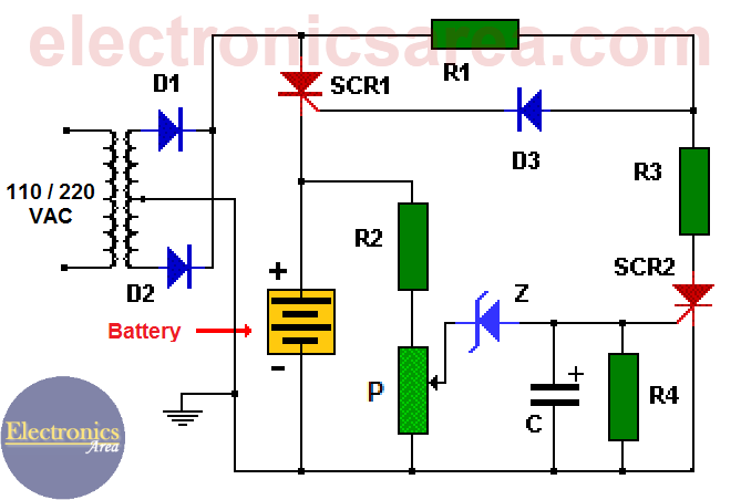 Stupendous 12V Auto Turn Off Battery Charger Electronics Area Wiring Cloud Rdonaheevemohammedshrineorg