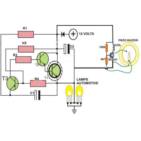 simple turn signal schematic bv 0238  circuits gt automobile turn signal circuit l37006 nextgr  circuits gt automobile turn signal