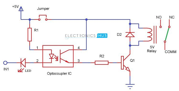 aa_2459] relay through an optocoupler circuit electronic circuit projects schematic  wiring  dupl wedab mohammedshrine librar wiring 101